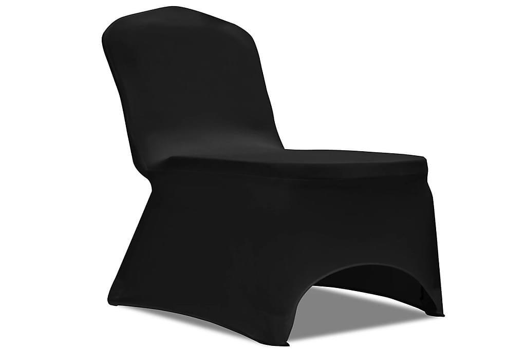 Joustava tuolinpäällinen 100 kpl Musta - Musta - Huonekalut - Huonekalujen hoito - Huonekalupäälliset