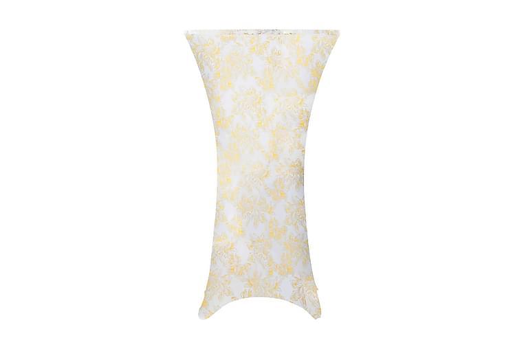 Pöytäliinat 2 kpl venyvä 70cm valkoinen kultaisella kuviolla - Kulta - Huonekalut - Huonekalujen hoito - Huonekalupäälliset