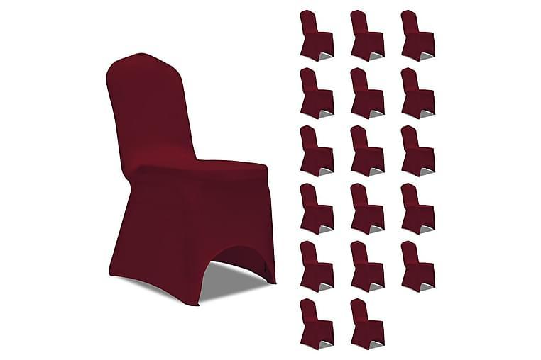 Tuolinpäällinen venyvä viininpunainen 18 kpl - Punainen - Huonekalut - Huonekalujen hoito - Huonekalupäälliset
