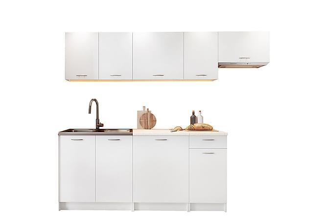 Keittiökalusteet Kallweit työpöydällä - Valkoinen - Huonekalut - Kalustesetit - Keittiön kalustesetit