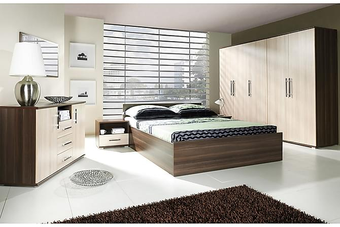 Makuuhuoneen kalustepaketti Inez - Beige   Ruskea   Valkoinen - Huonekalut - Sängyt - Sänkykehikot & sängynrungot