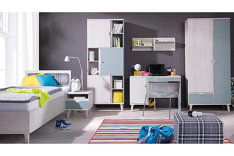 Makuuhuonesetti Lasten Memone - Harmaa / Valkoinen - Huonekalut - Kalustesetit - Makuuhuoneen kalustesetit