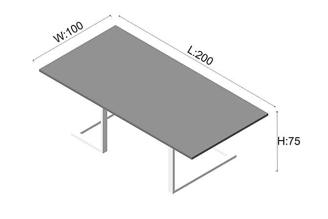 Neuvottelupöytä Bartling 200 cm - Pähkinä/Valkoinen - Huonekalut - Kalustesetit - Toimistokalustekokonaisuus