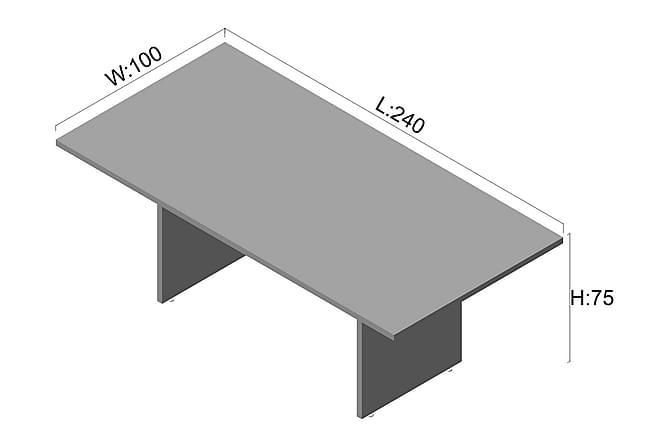 Neuvottelupöytä Swaylands 240 cm - Pähkinä/Valkoinen - Huonekalut - Kalustesetit - Toimistokalustekokonaisuus