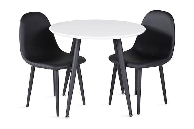Carltone Ruokailuryhmä 60 cm Pyöreä 2 Domvik tuolia - Huonekalut - Ruokailuryhmät - Pyöreä ruokailuryhmä