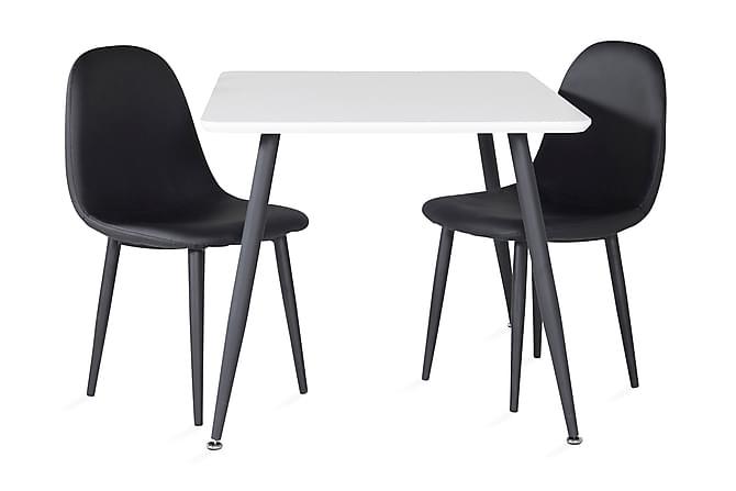 Nicci Ruokailuryhmä 80 cm 2 Domvik tuolia - Huonekalut - Ruokailuryhmät - Kulmikas ruokailuryhmä