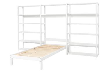 Sänky Storey hyllyllä 100x90x200 Valkoinen