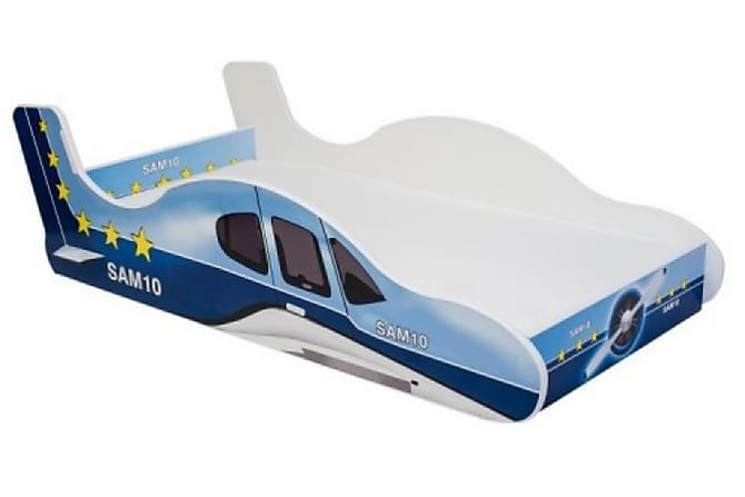 Lastensänky Demek Lentokone 80x160 - Sininen - Huonekalut - Lasten kalusteet - Lastensängyt & juniorisängyt