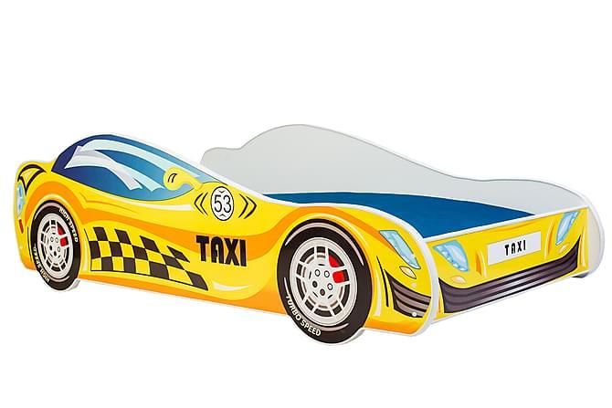 Lastensänky Dusko Taksi 80x160 - Keltainen - Huonekalut - Lasten kalusteet - Lastensängyt & juniorisängyt