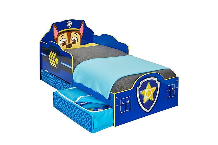 Lastensänky Paw Patrol Chase Säilytyksellä 77x142 cm - Sininen/Valkoinen/Keltainen - Huonekalut - Lasten kalusteet - Lastensängyt & juniorisängyt