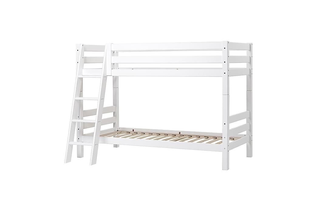 Lastensänky tikkailla Sandbacken 209x137 cm - Valkoinen - Huonekalut - Lasten kalusteet - Lastensängyt & juniorisängyt