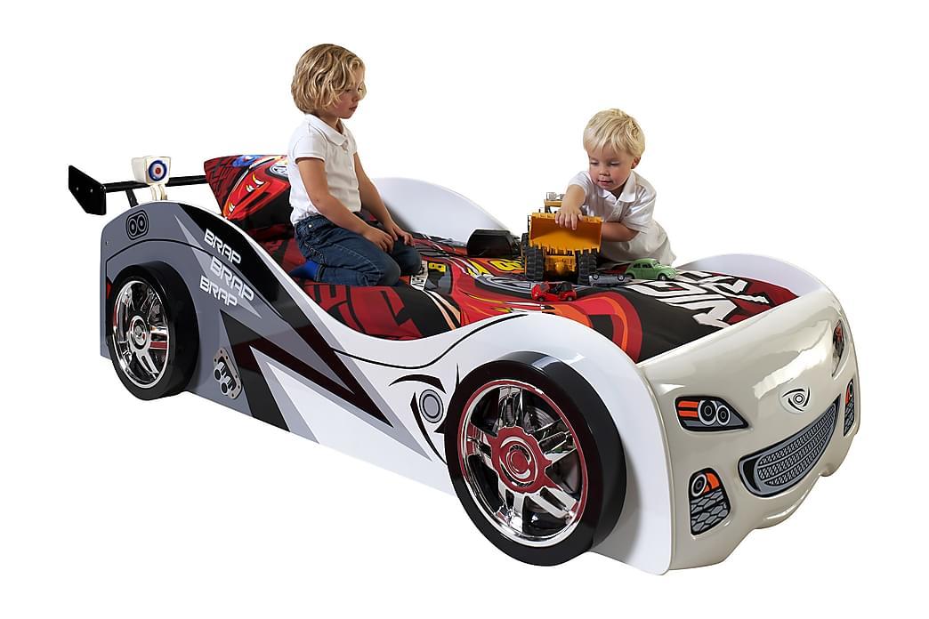 Lastensänky/Autosänky Jamjir Racing - Valkoinen - Huonekalut - Lasten kalusteet - Lastensängyt & juniorisängyt