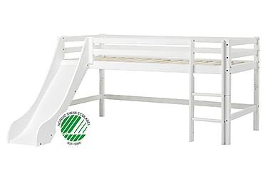 Majasänky Basic 90x200 liukumäellä Valkoinen