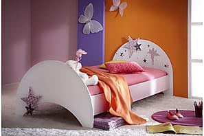Sänky Fingal 90x200 cm Valkoinen/Liila