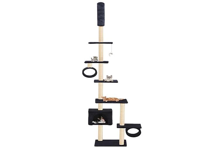 Kissan kiipeilypuu sisal-pylväillä 260 cm tummansininen - Sininen - Huonekalut - Lemmikkien kalusteet - Kissojen kalusteet
