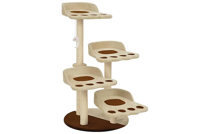 Kissan kiipeilypuu sisal-pylväillä 90 cm ruskea - Beige - Huonekalut - Lemmikkien kalusteet - Kissojen kalusteet