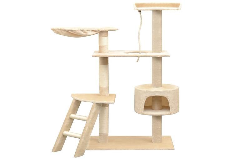 Kissan raapimispuu sisal-pylväillä 150 cm Beige - Beige - Huonekalut - Lemmikkien kalusteet - Kissojen kalusteet