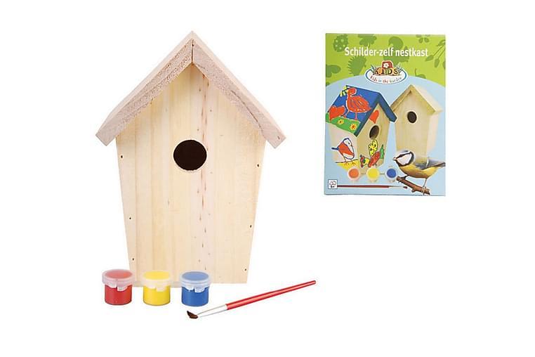 Esschert Design DIY linnunpöntön Paint 14.8x11.7x20 cm KG145 - Huonekalut - Lemmikkien kalusteet - Lemmikkien lisätarvikkeet