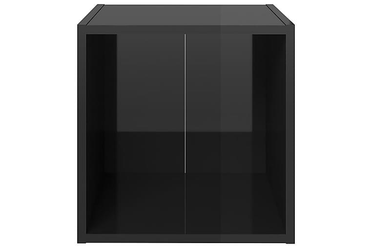 3-osainen TV-kaappisarja korkeakiilto musta lastulevy - Musta - Huonekalut - TV- & Mediakalusteet - TV-kaapit