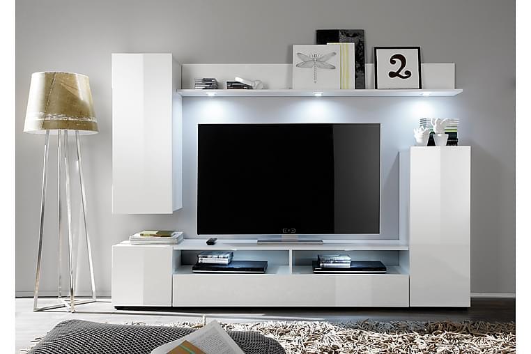 Kalustepaketti Dos 208 cm - Valkoinen - Huonekalut - TV- & Mediakalusteet - TV-kaapit