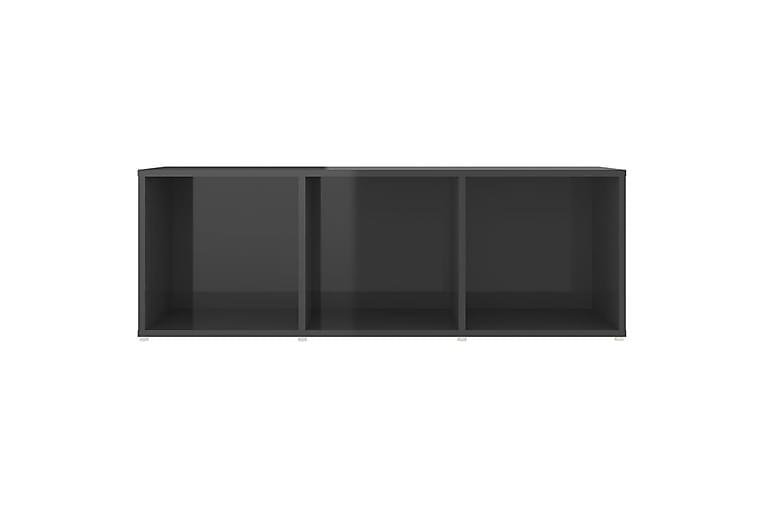 TV-tasot 4 kpl korkeakiilto harmaa 107x35x37 cm lastulevy - Harmaa - Huonekalut - TV- & Mediakalusteet - TV-kaapit
