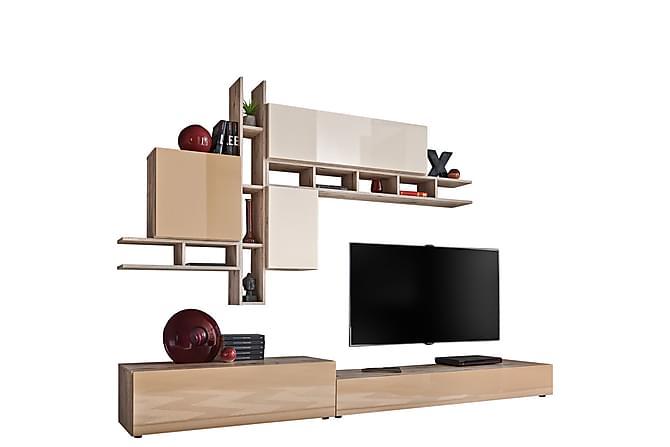 Avonia Olohuoneen kalustepaketti 255x45x180 cm - Huonekalut - TV- & Mediakalusteet - TV-kalustepaketti