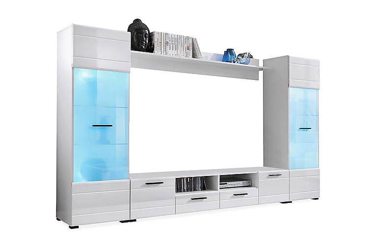 Mediakaluste Vidara 260 cm - Valkoinen - Huonekalut - TV- & Mediakalusteet - TV-kalustepaketti