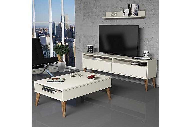 Olohuoneen kalustepaketti Nyarai 150 cm - Valkoinen - Huonekalut - TV- & Mediakalusteet - TV-kalustepaketti