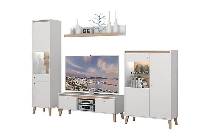 Olohuoneen kalustepaketti Oviedo - Monivärinen - Huonekalut - TV- & Mediakalusteet - TV-kalustepaketti