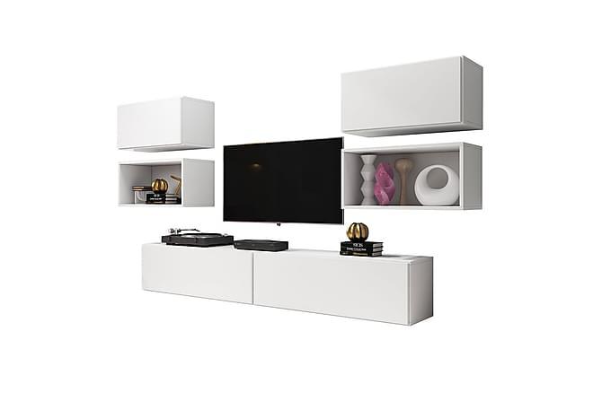 Olohuoneen kalustesetti Roco - Valkoinen - Huonekalut - TV- & Mediakalusteet - TV-kalustepaketti