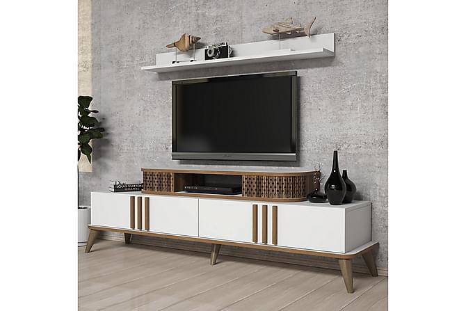 TV-kalustepaketti Amtorp 168 cm - Valkoinen - Huonekalut - TV- & Mediakalusteet - TV-kalustepaketti
