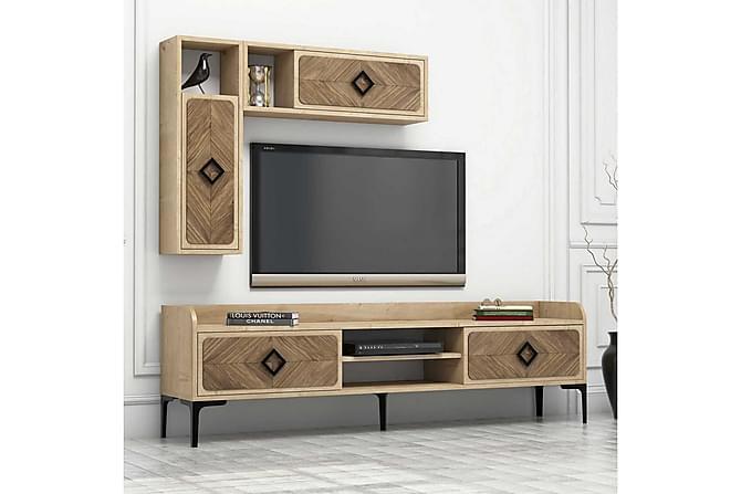 TV-kalustepaketti Amtorp 180 cm - Ruskea - Huonekalut - TV- & Mediakalusteet - TV-kalustepaketti