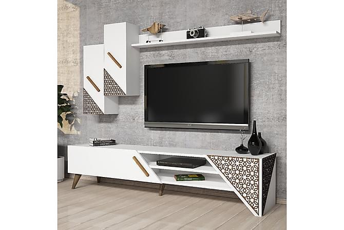 TV-kalustepaketti Amtorp 180 cm - Valkoinen - Huonekalut - TV- & Mediakalusteet - TV-kalustepaketti