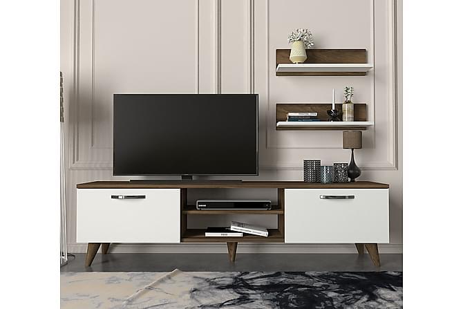 TV-kalustepaketti Bondsjö 150 cm - Ruskea/Valkoinen - Huonekalut - TV- & Mediakalusteet - TV-kalustepaketti