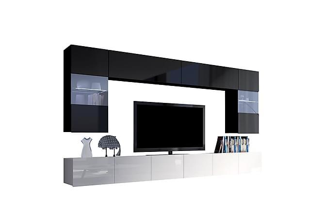 TV-kalustepaketti Calabrini - Harmaa | Valkoinen - Huonekalut - TV- & Mediakalusteet - TV-kalustepaketti