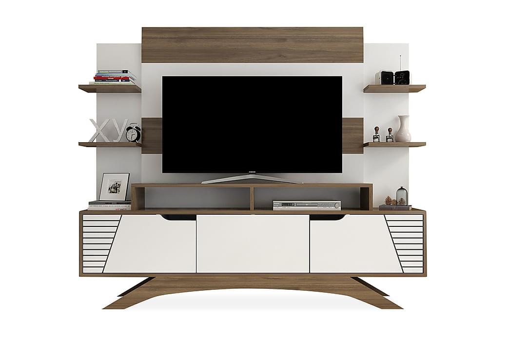 TV-kalustepaketti Dumö 149 cm - Ruskea/Valkoinen - Huonekalut - TV- & Mediakalusteet - TV-kalustepaketti