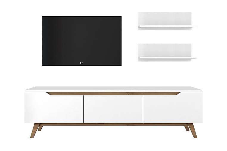 TV-kalustepaketti Horveryd 180 cm - Valkoinen/Ruskea - Huonekalut - TV- & Mediakalusteet - TV-kalustepaketti