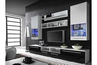 TV-kalustepaketti LED Luna 260x44x190 cm