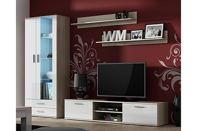 TV-kalustepaketti Soho - Valkoinen - Huonekalut - TV- & Mediakalusteet - TV-kalustepaketti