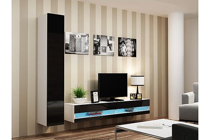 TV-kalustepaketti Vigo 220x40x180 cm - Beige - Huonekalut - TV- & Mediakalusteet - TV-kalustepaketti
