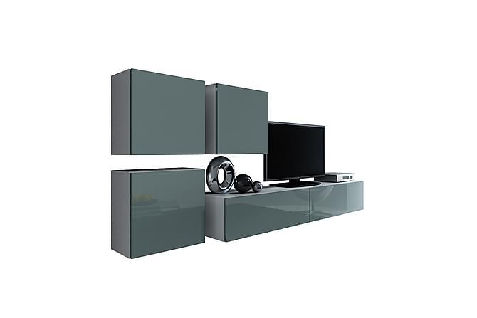 TV-kalustepaketti Vigo 230x40x180 cm - Valkoinen - Huonekalut - TV- & Mediakalusteet - TV-kalustepaketti