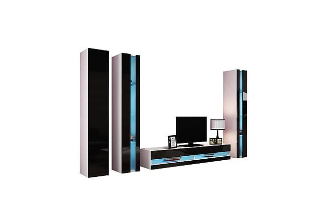 TV-kalustepaketti Vigo 300x40x180 cm - Beige/Valkoinen - Huonekalut - TV- & Mediakalusteet - TV-kalustepaketti