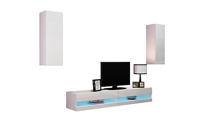TV-kalustepaketti Vigo 40x180 cm - Valkoinen - Huonekalut - TV- & Mediakalusteet - TV-kalustepaketti