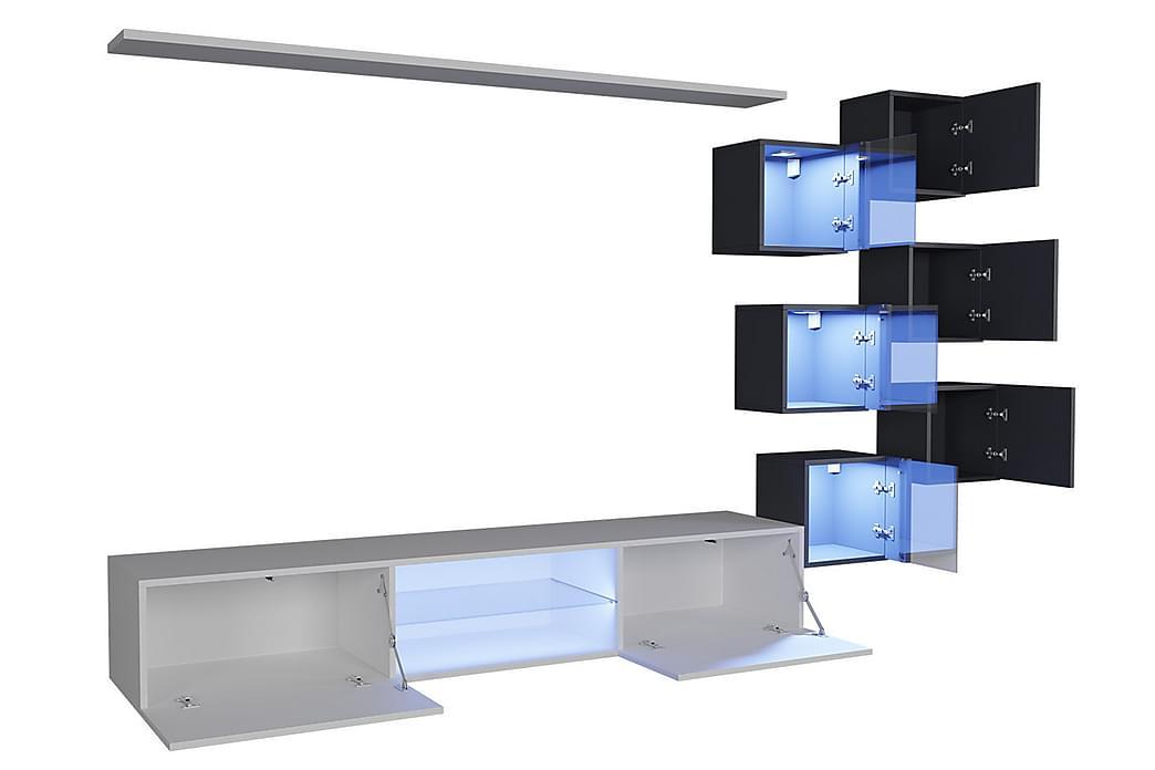Vidara TV-huonekalustepaketti + LED - Huonekalut - TV- & Mediakalusteet - TV-kalustepaketti