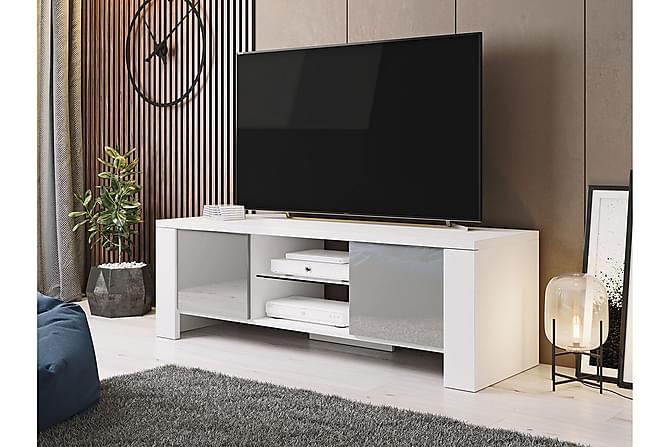Hartsbol TV-Kaappi 130 cm - Valkoinen/Harmaa - Huonekalut - TV- & Mediakalusteet - Tv-tasot & Mediatasot