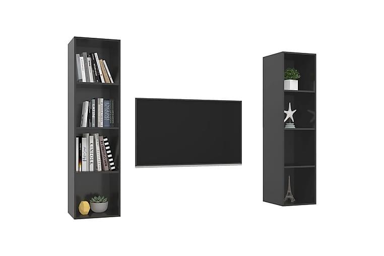 Seinäkiinnitettävät TV-tasot 2kpl harmaa lastulevy - Harmaa - Huonekalut - TV- & Mediakalusteet - Tv-tasot & Mediatasot