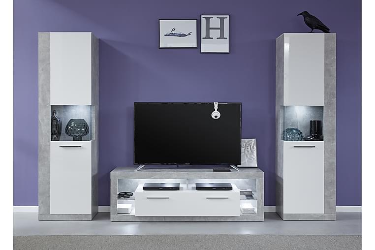 TV-kalustepaketti Koretta - Valkoinen - Huonekalut - TV- & Mediakalusteet - Tv-tasot & Mediatasot