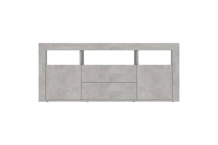 TV-taso betoninharmaa 120x30x50 cm lastulevy - Huonekalut - TV- & Mediakalusteet - Tv-tasot & Mediatasot