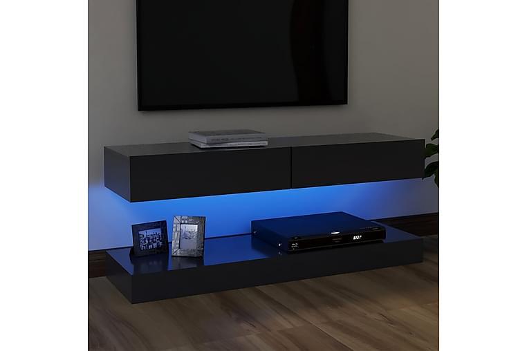 TV-taso LED-valoilla harmaa 120x35 cm - Huonekalut - TV- & Mediakalusteet - Tv-tasot & Mediatasot