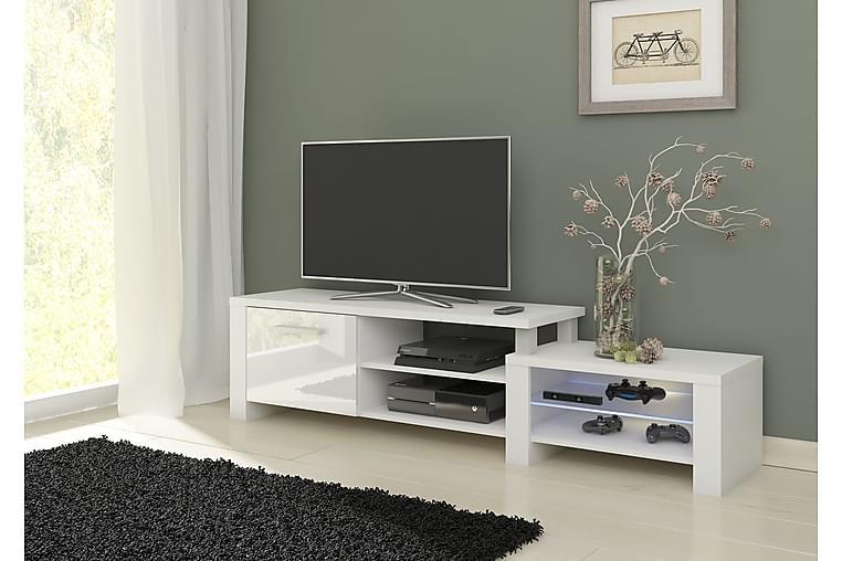 TV-taso Merna 160 cm - Valkoinen - Huonekalut - TV- & Mediakalusteet - Tv-tasot & Mediatasot